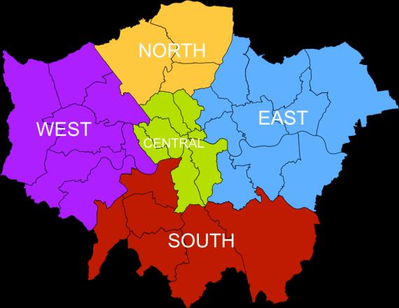 Regions of London