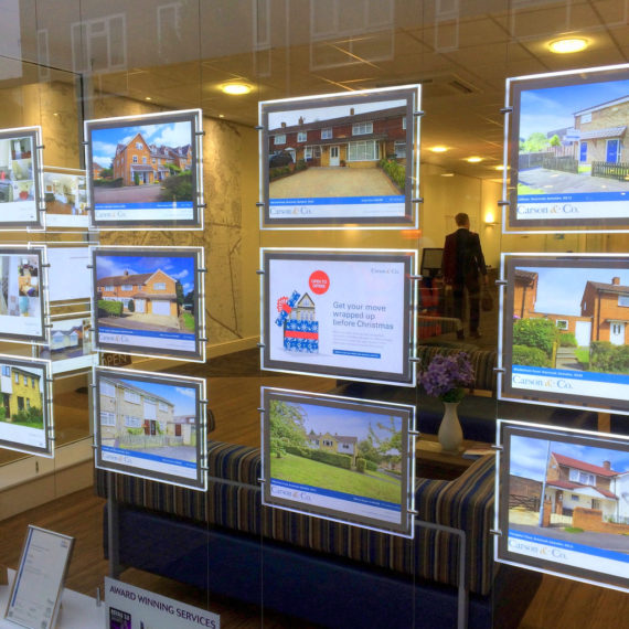 Estate Agency Window Display